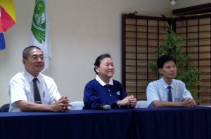 Alfredo Li, Judy Lao and Michael Siao accommodated questions during the press conference held at the Still Thoughts Hall of Tzu Chi's headquarters in Quezon City.