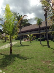 One of several buildings  housing the de luxe rooms in Bohol Beach Club.