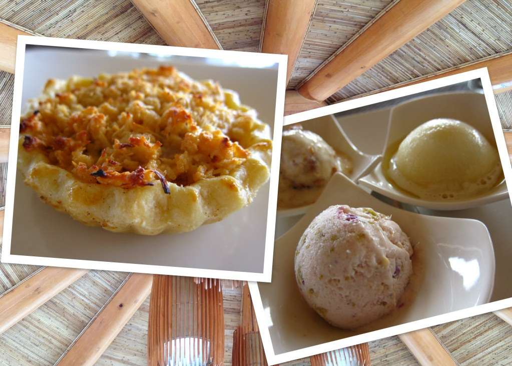 Apple pie baked by chef Edith and 3K ice cream --- Kamias, Kasuy and Kalamansi