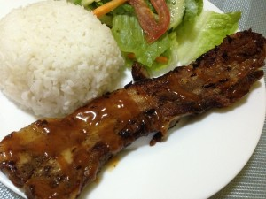 My favorite at Carlo's Pizza, their BBQ pork spareribs