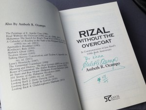 "Dr. Ambeth Ocampo's bestselling work, ""Rizal Without The Overcoat"" is celebrating its 25th anniversary this year."