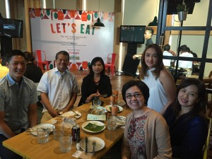 At the launch at Hole In The Wall with Angelo Comsti, Claude Tayag, Millet Mananquil, Sara Soliven and Millet Sta. Ana