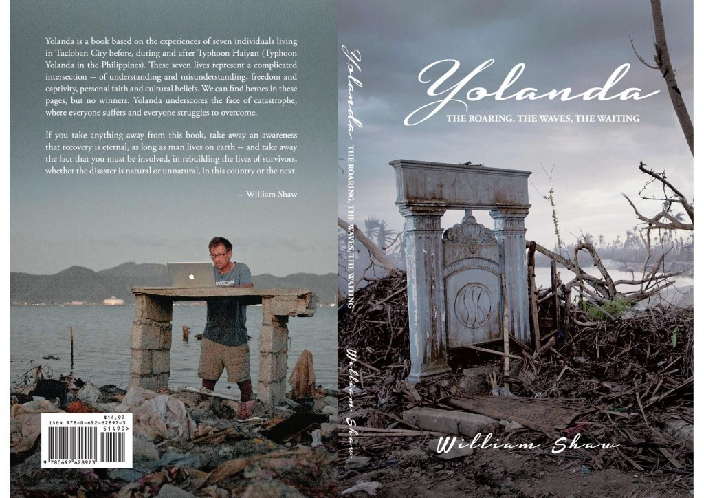 "The 224-page ""Yolanda: The Roaring, The Waves, The Waiting"" sells for P500."