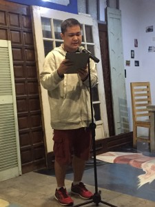 "Mark Dimaisip's ""My Anxiety"" was another eye-opener. I don't remember which of the pieces he recited had this line but I like it a lot. ""The only way to learn how to keep your head above water is to be in the water."""