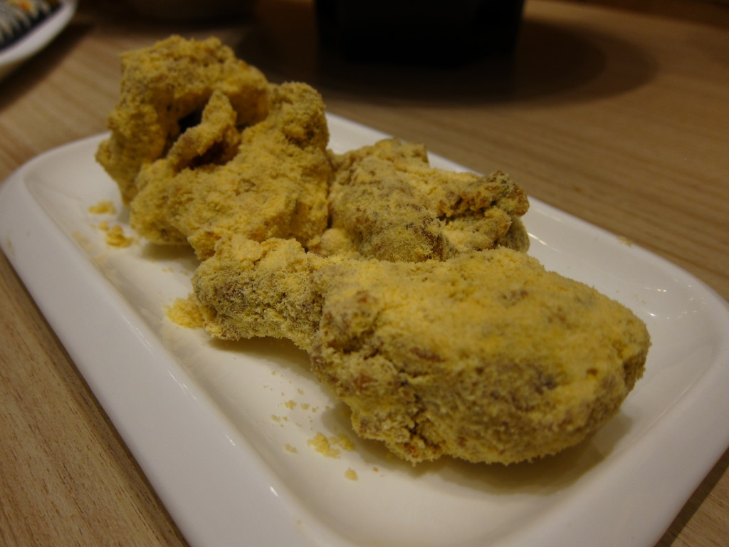 Snow - Crispy fried chicken tossed in a special powder with a choice of cheese or fire chili.  (P538, whole. P288, half)