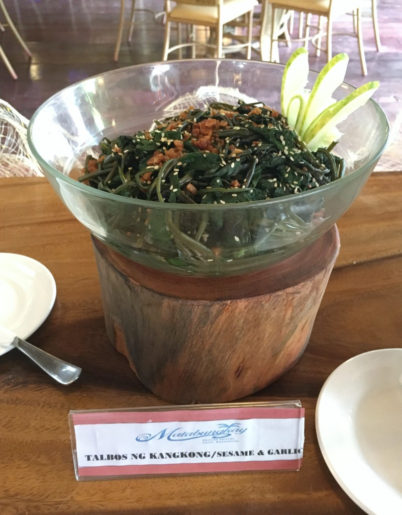 Talbos ng Kangkong with Sesame and Garlic