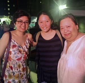 With Glaiza Lee and Gianna Maniego
