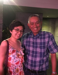 With Manila Standard Business Editor, Ray Enano