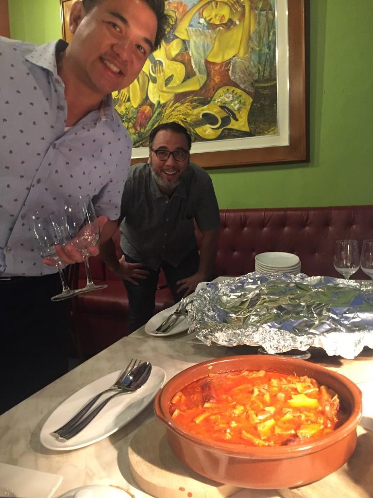 Callos photobombers. Chefs J Gamboa and Fernando Aracama.
