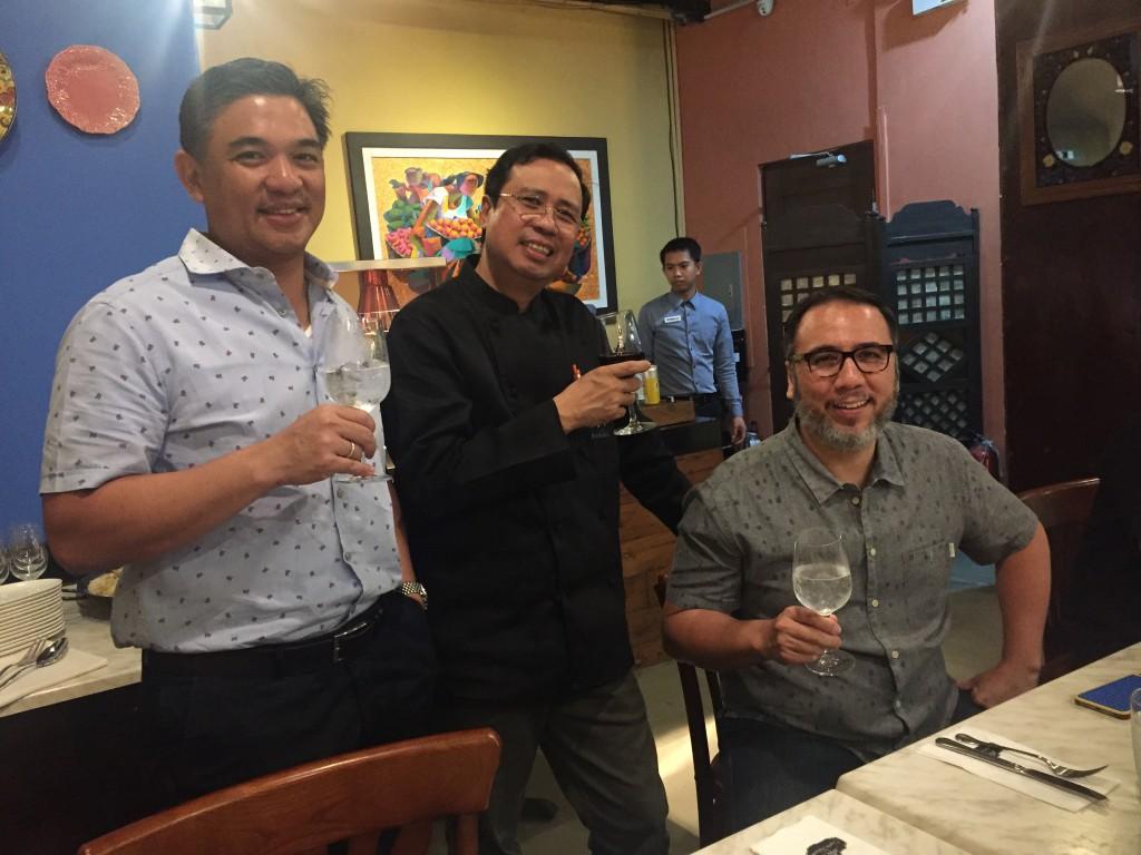 Chefs J Gamboa, Ariel Manuel, and Fernando Aracama