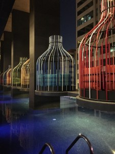 The pool at I'M Hotel located at Makati Avenue corner Kalayaan Avenue, Makati.