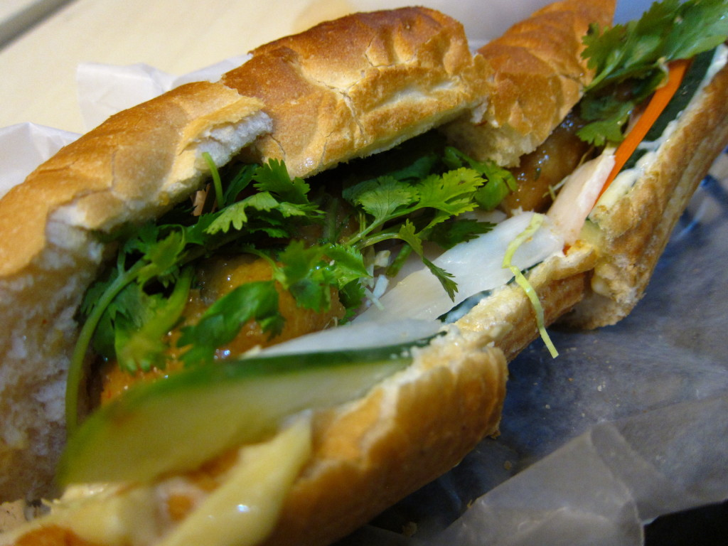 Vietnomnom's Crispy Fish Banh Mi